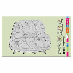 CLING HEARTH NAP - Our Newest House-Mouse Designs® Cling rubber stamps
