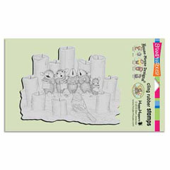 CLING CANDLE CHORUS - Our Newest House-Mouse Designs® Cling rubber stamps