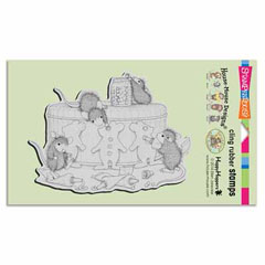 CLING GINGERBREAD MICE - Our Newest House-Mouse Designs® Cling rubber stamps