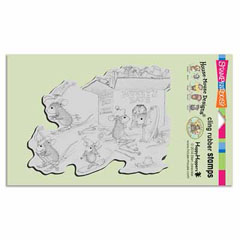 CLING HAT BOX - Our Newest House-Mouse Designs® Cling rubber stamps