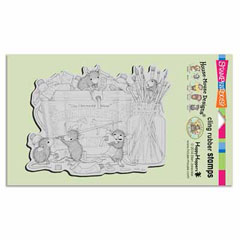 CLING PLAYFUL PAINTERS - Our Newest House-Mouse Designs® Cling rubber stamps