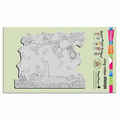 CLING PAWING PETALS - Our Newest House-Mouse Designs® Cling rubber stamps