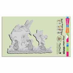 CLING TAG ALONG TRIO - Our Newest House-Mouse Designs® Cling rubber stamps