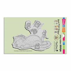 CLING KITTY BOUNCE - Our Newest House-Mouse Designs® Cling rubber stamps