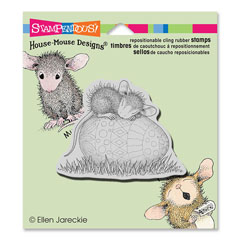 CLING EASTER EGG NAP - Our Newest House-Mouse Designs® Cling rubber stamps