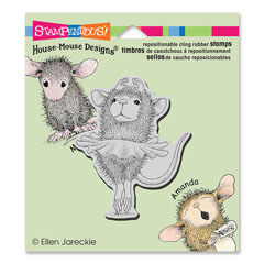 Cling Ballerina Baby - Our Newest House-Mouse Designs® Cling rubber stamps