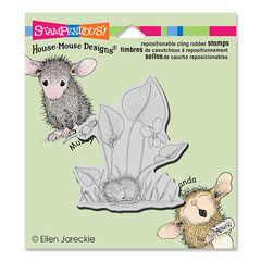 CLING VIOLET NAP - Our Newest House-Mouse Designs® Cling rubber stamps