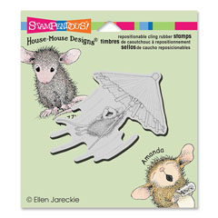 CLING UMBRELLA RIDE - Our Newest House-Mouse Designs® Cling rubber stamps