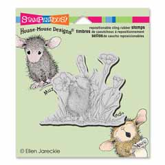 CLING FLORAL TRUMPET - Our Newest House-Mouse Designs® Cling rubber stamps
