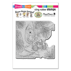 Cling Squirrel Singers Stamp - Our Newest House-Mouse Designs® Cling rubber stamps