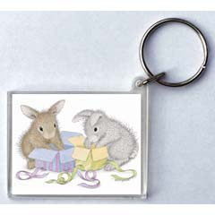 Hoppy Birthday Key Ring