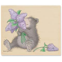 Gruffies® -  Lilac Bouquet - Gruffies® Rubber Stamps