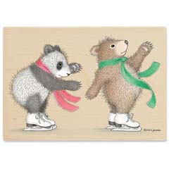 Gruffies® -   Bears on Ice - Gruffies® Rubber Stamps
