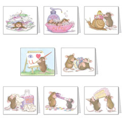 8 Assorted Notecards & Envelopes - House-Mouse Designs® Assorted Packages of 8 Note cards