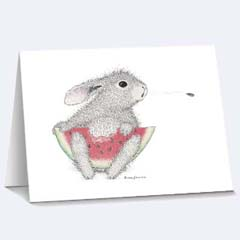 8 Seed Shooter Notecards /Envs - House Mouse HappyHoppers Notecards