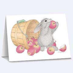 8 Apple a Day Notecards /Envs - House Mouse HappyHoppers Notecards