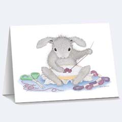 8 Stitch in Time Notecards - House Mouse HappyHoppers Notecards