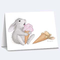 8 Snooze you Loose Notecards - House Mouse HappyHoppers Notecards