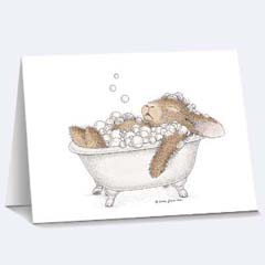 8 Relaxing Bubbles Notecards - House Mouse HappyHoppers Notecards