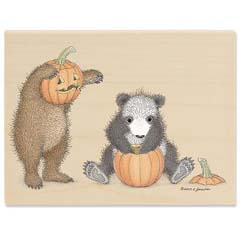 Gruffies® -  Punkin' Head - Gruffies® Rubber Stamps