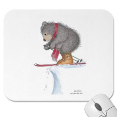 Mouse Pad- To Ski or Not to Sk
