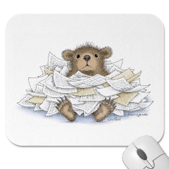 Mouse Pad- Bear-ied in Paperwo