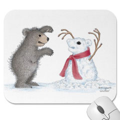Mouse Pad- Snow Bear