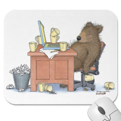 Mouse Pad- Attack of the Caffe