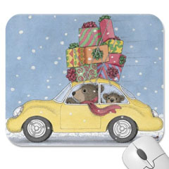 Mouse Pad- Beary Big Delivery