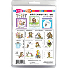 House-Mouse Spring Mini Clear - Our Newest House-Mouse Designs® Cling Rubber Stamp set