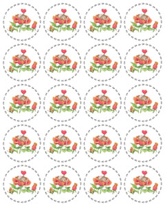 1 Sheet of 20 Round Stickers