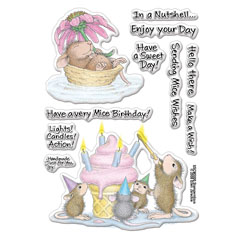 Clear Stamp Set Mice Wishes - Our Newest House-Mouse Designs® Cling rubber stamps