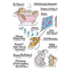 Clear Stamp Set Hoppy Moments - Our Newest House-Mouse Designs® Cling rubber stamps