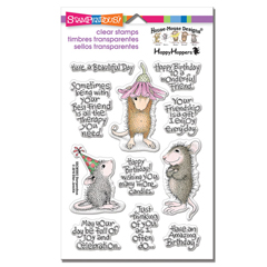 Friend Wishes Perfectly Clear - Our Newest House-Mouse Designs® Cling Rubber Stamp set