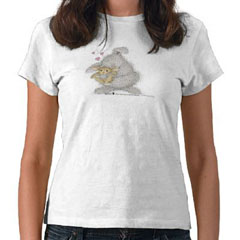 Love Bunny  T-shirt-SM - HappyHoppers®  T-Shirts