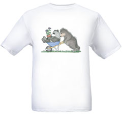 Wheelbarrow   T-shirt-SM - Gruffies®  T-Shirts
