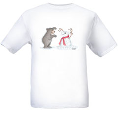 Snow Bear     T-shirt-SM - Gruffies®  T-Shirts