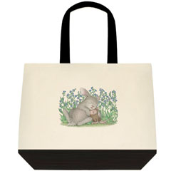 Snuggle Bun -Two-Tone Tote Bag