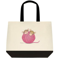 Close Knit- Two-Tone Tote Bag