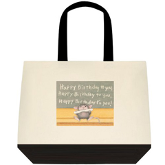 Happy Birthday 2 Tone Tote Bag