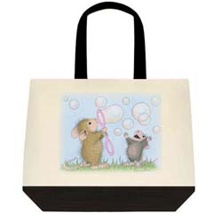 Bubble Fun 2 Tone Tote Bag