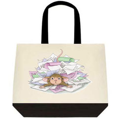 "Two Tone Tote Bag - 19"" x 15"" x 6"""