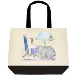 Computer Cat-Two-Tone Tote Bag