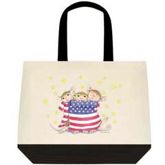 Patriotic Wrap 2 Tone Tote Bag