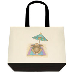 Bunny in Paradise 2 Tone Tote