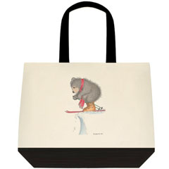 To Ski or... Two Tone Tote Bag
