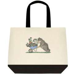 Wheelbarrow  Two Tone Tote Bag