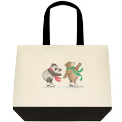 Bears on Ice Two Tone Tote Bag