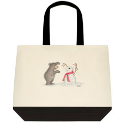 Snow Bear    Two Tone Tote Bag