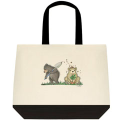 Digging up.. Two Tone Tote Bag